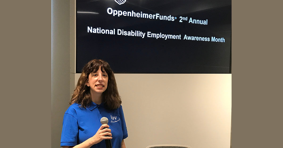 VIDEO: Luv Michael Joins Oppenheimer Funds Discussion On National Disability Employment Awareness Month